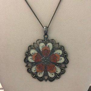 Bronze BOHO flower necklace